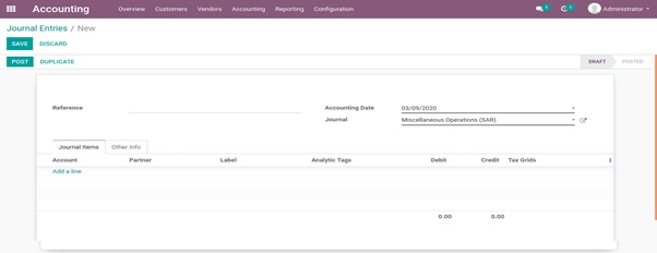 Odoo Account Journals 5